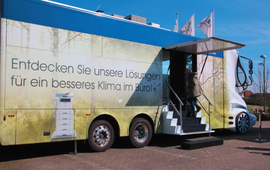 Heemeyer Bürotechnik, Brother Truck aussen