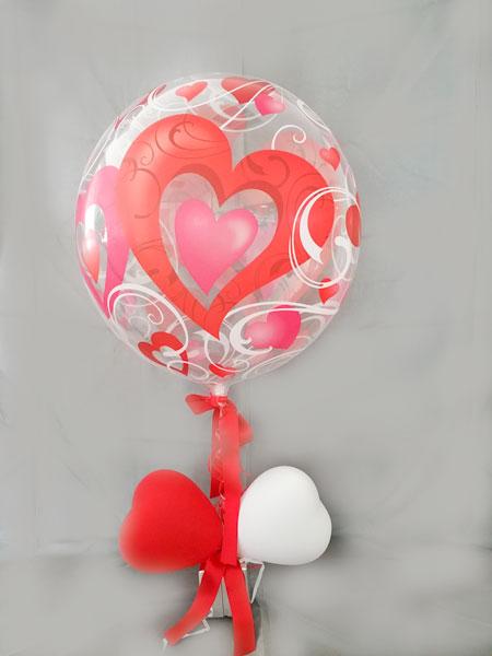 Ballon mit Herzen