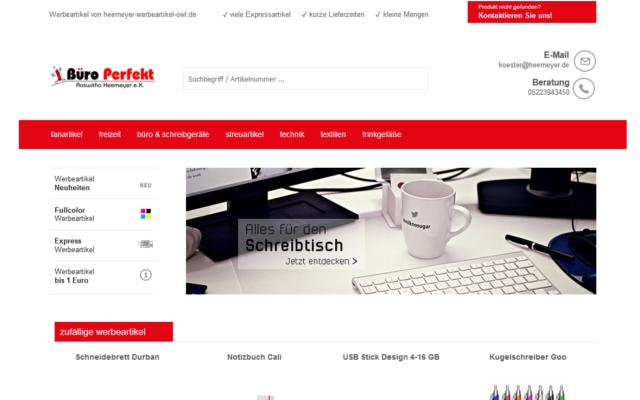 werbemittelscreen - Neuer Werbemittel-Shop bei Büro Perfekt